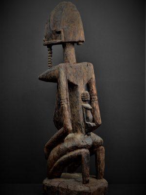 dogon statue 3quarts gauche dos