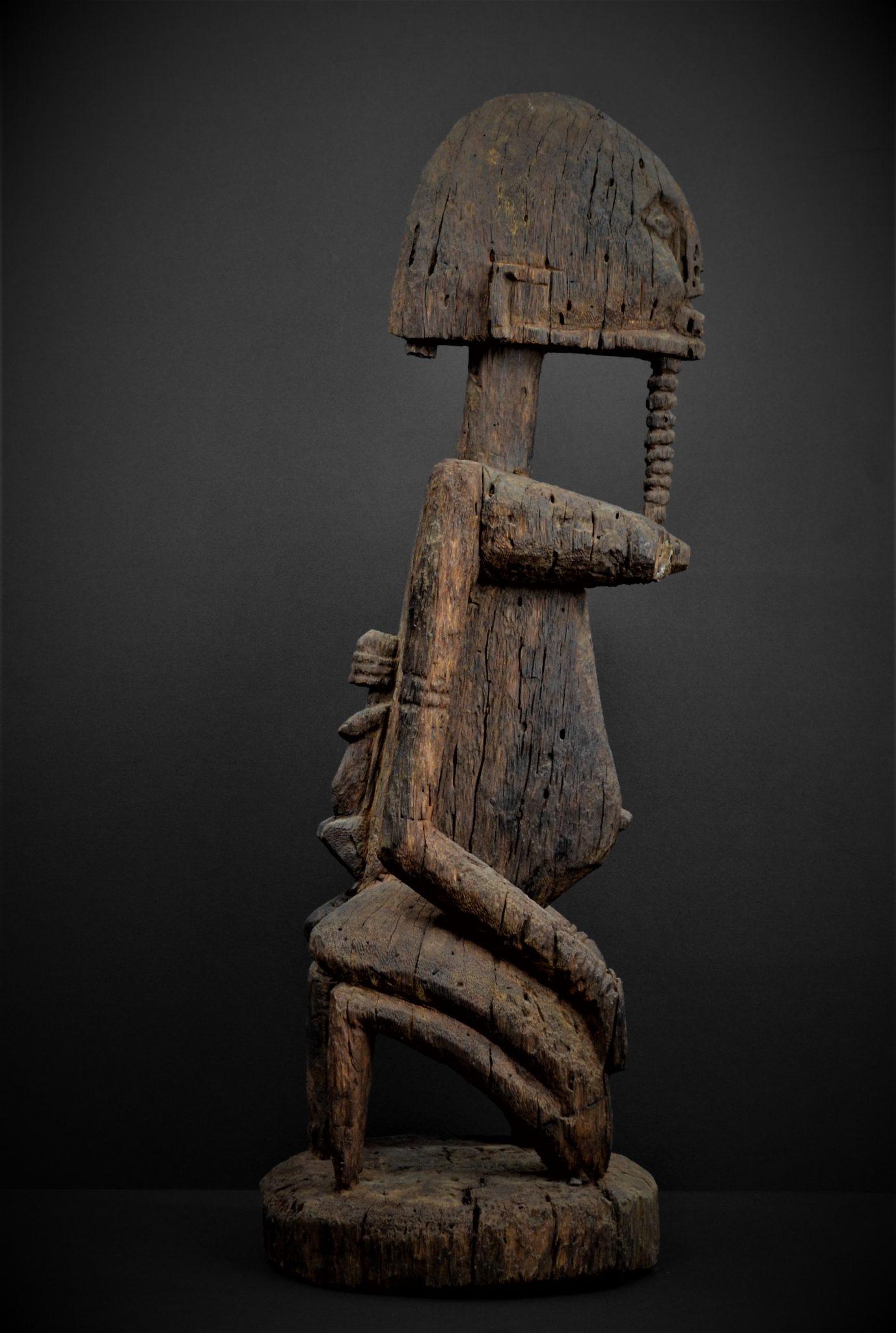 dogon statue profil droit