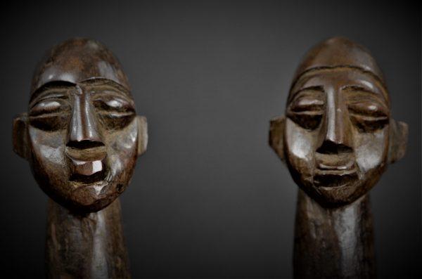 Tabouret à deux têtes, Lobi, Burkina Faso