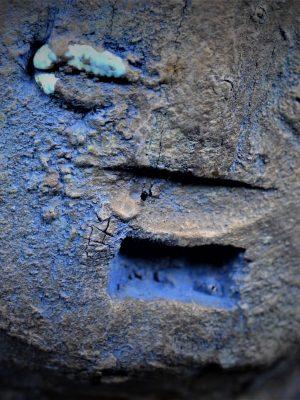 Fon fétiche janus détail visage 1