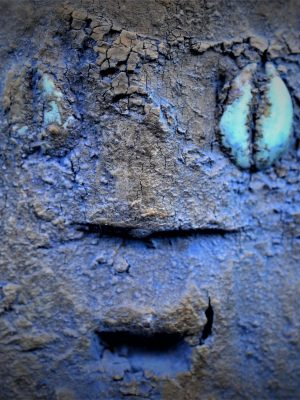 Fon fétiche janus détail visage 2