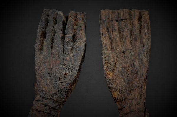 Statue Dogon Nommo bras levés, Mali