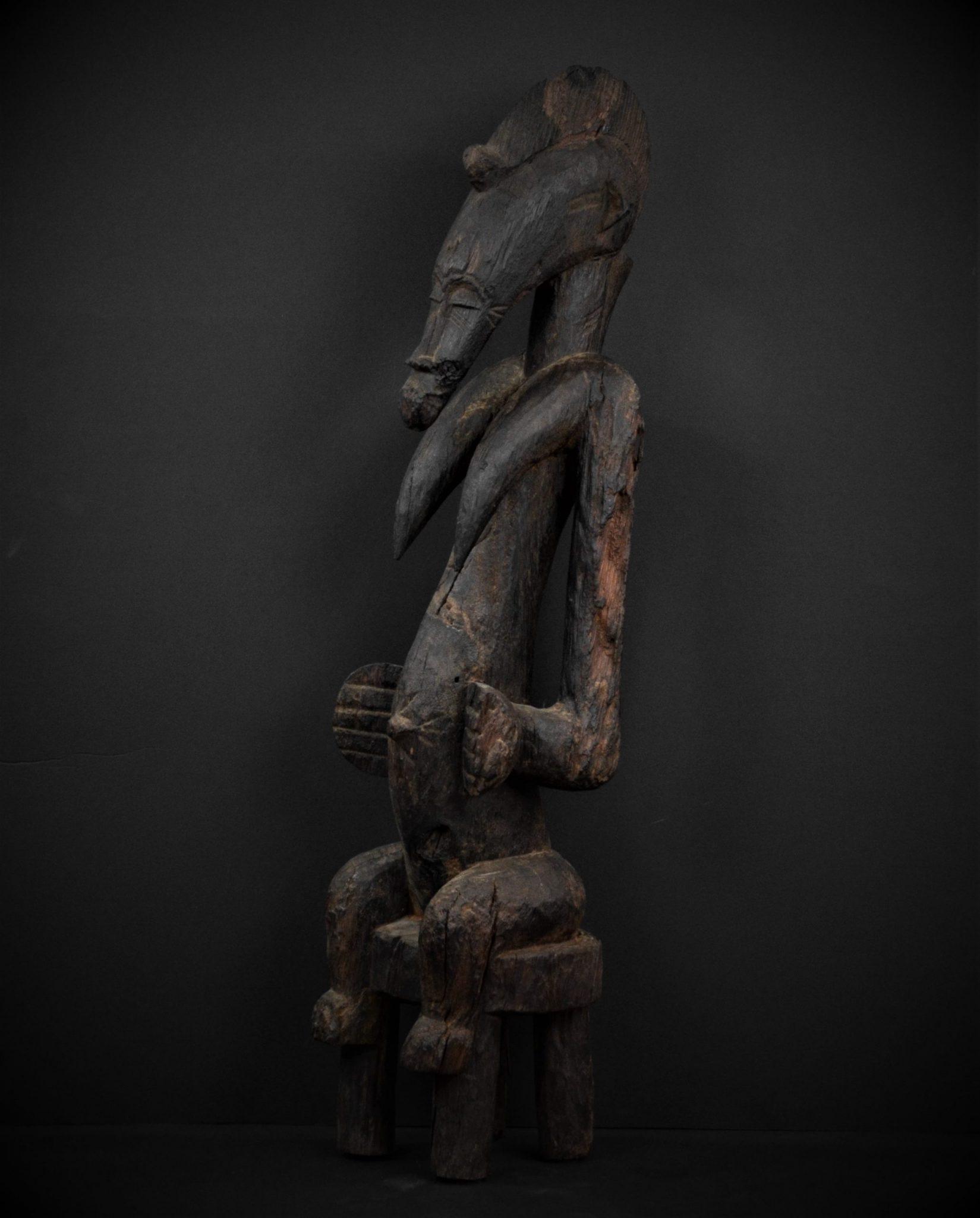 Statue Féminine Sénoufo 3quarts gauche