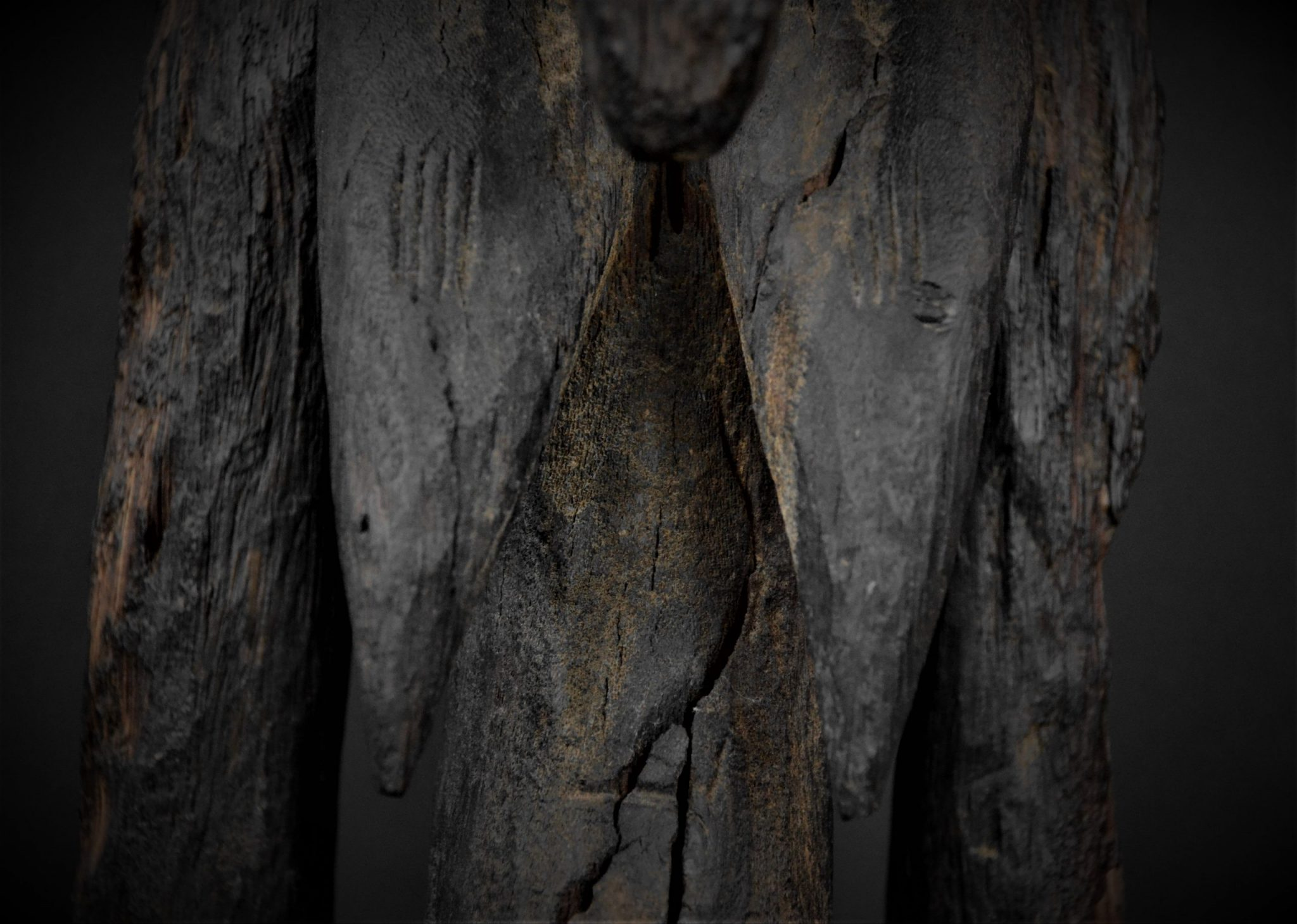 Statue Féminine Senoufo détail seins