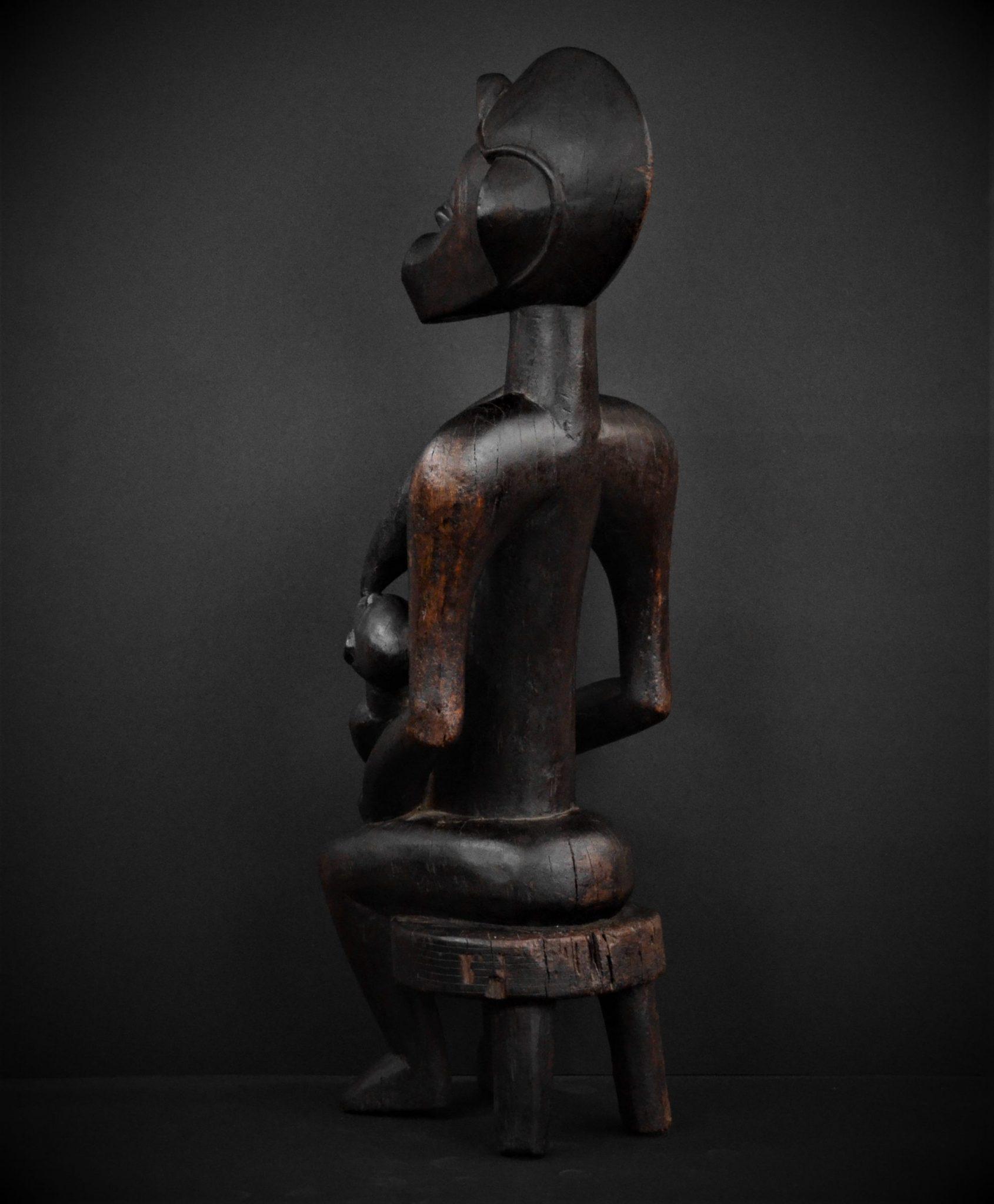 Statue Maternité Senoufo 3quarts arrière gauche