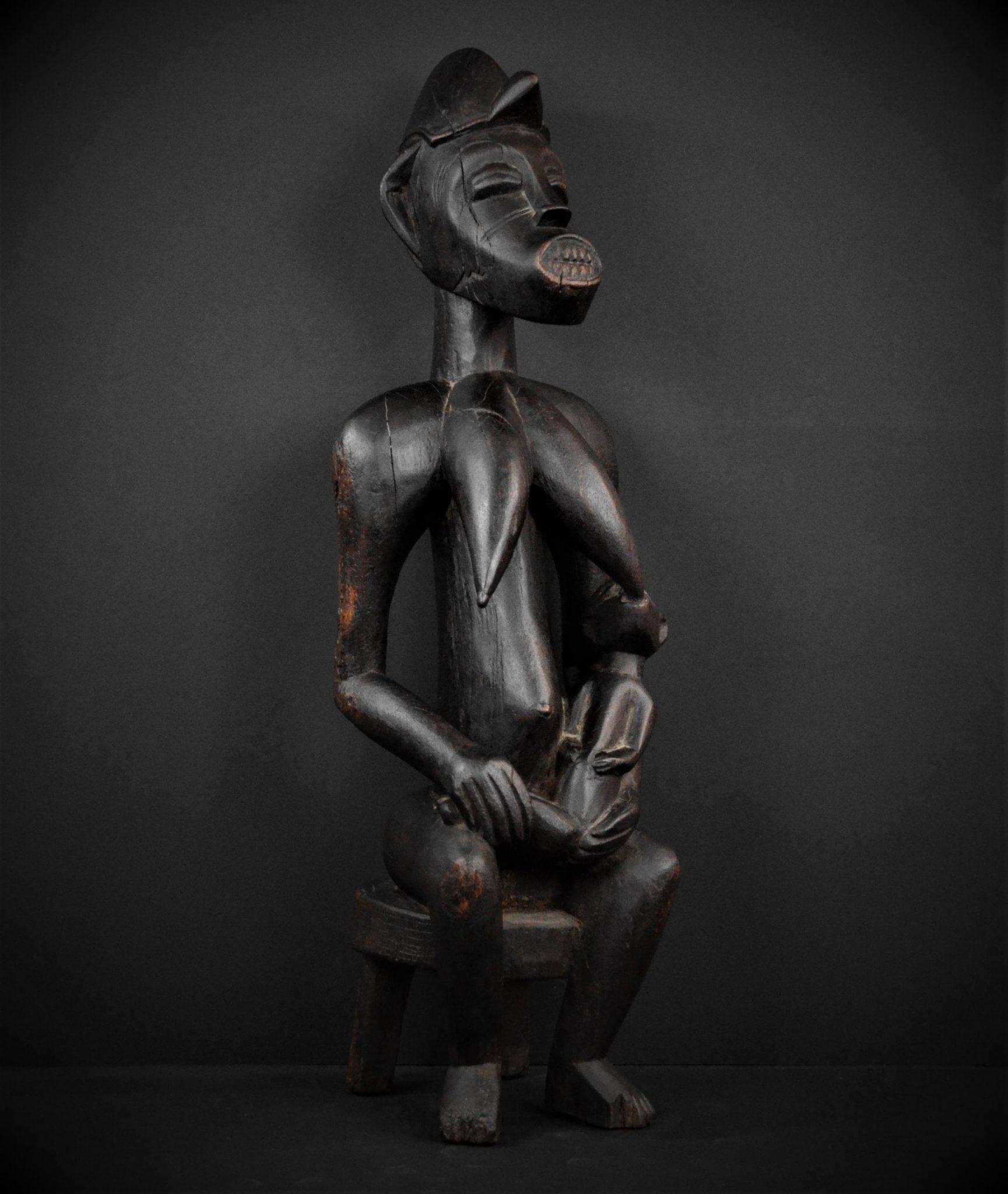 Statue Maternité Senoufo 3quarts droite 2