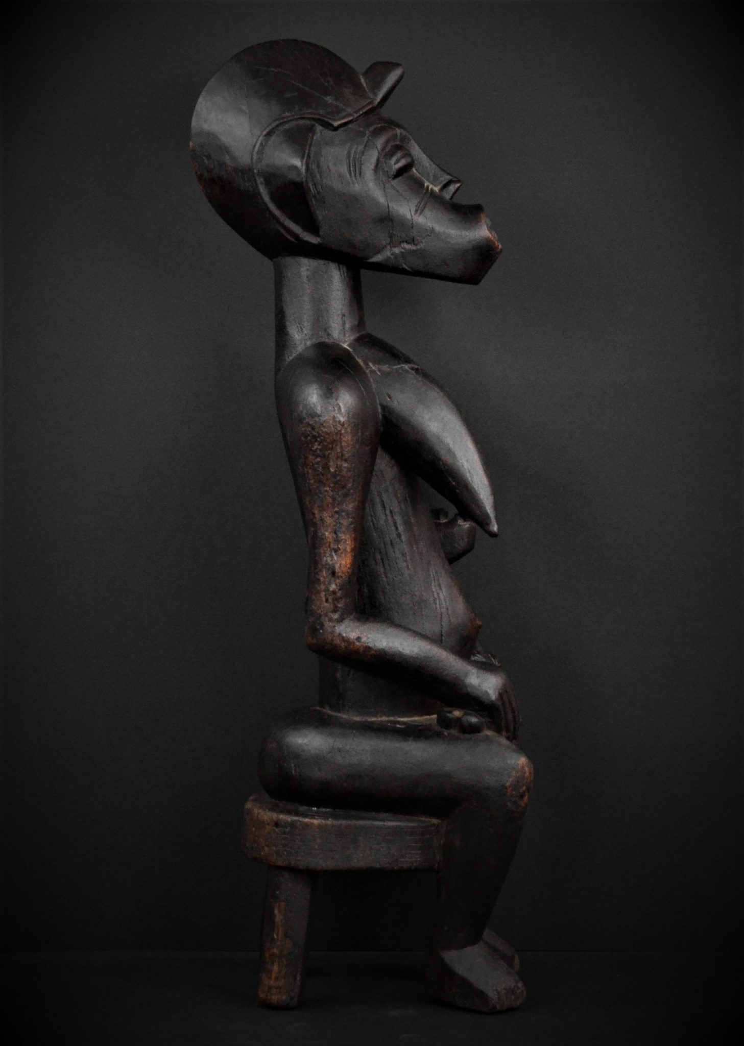 Statue Maternité Senoufo profil droit
