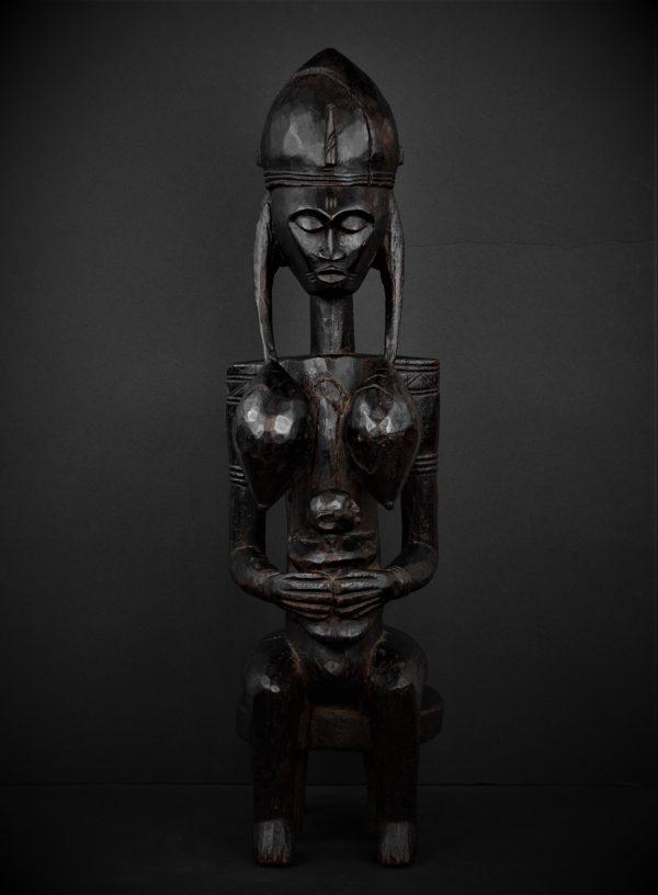 Statue Mère et enfant Bamana, Gwandusu, Mali