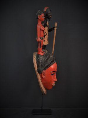 Gouro, Maître des Niono, Masque Gou Ripolin Rouge Côte d'Ivoire 1