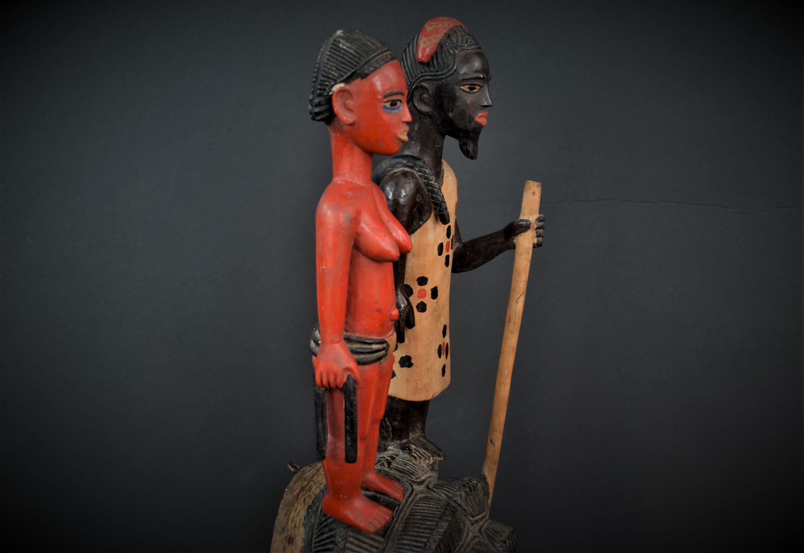 Gouro, Maître des Niono, Masque Gou Ripolin Rouge, Côte d'Ivoire 11