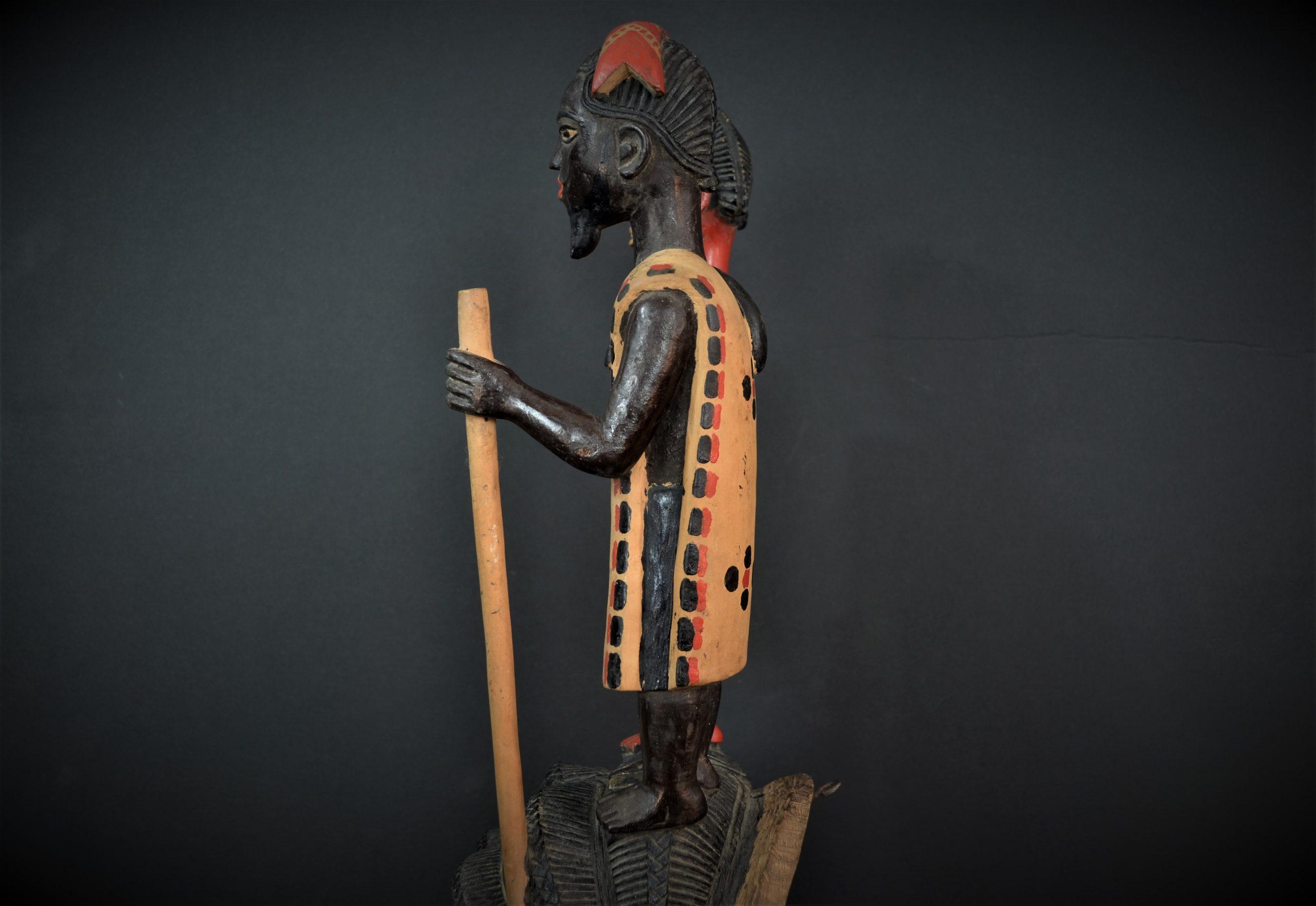 Gouro, Maître des Niono, Masque Gou Ripolin Rouge, Côte d'Ivoire 15
