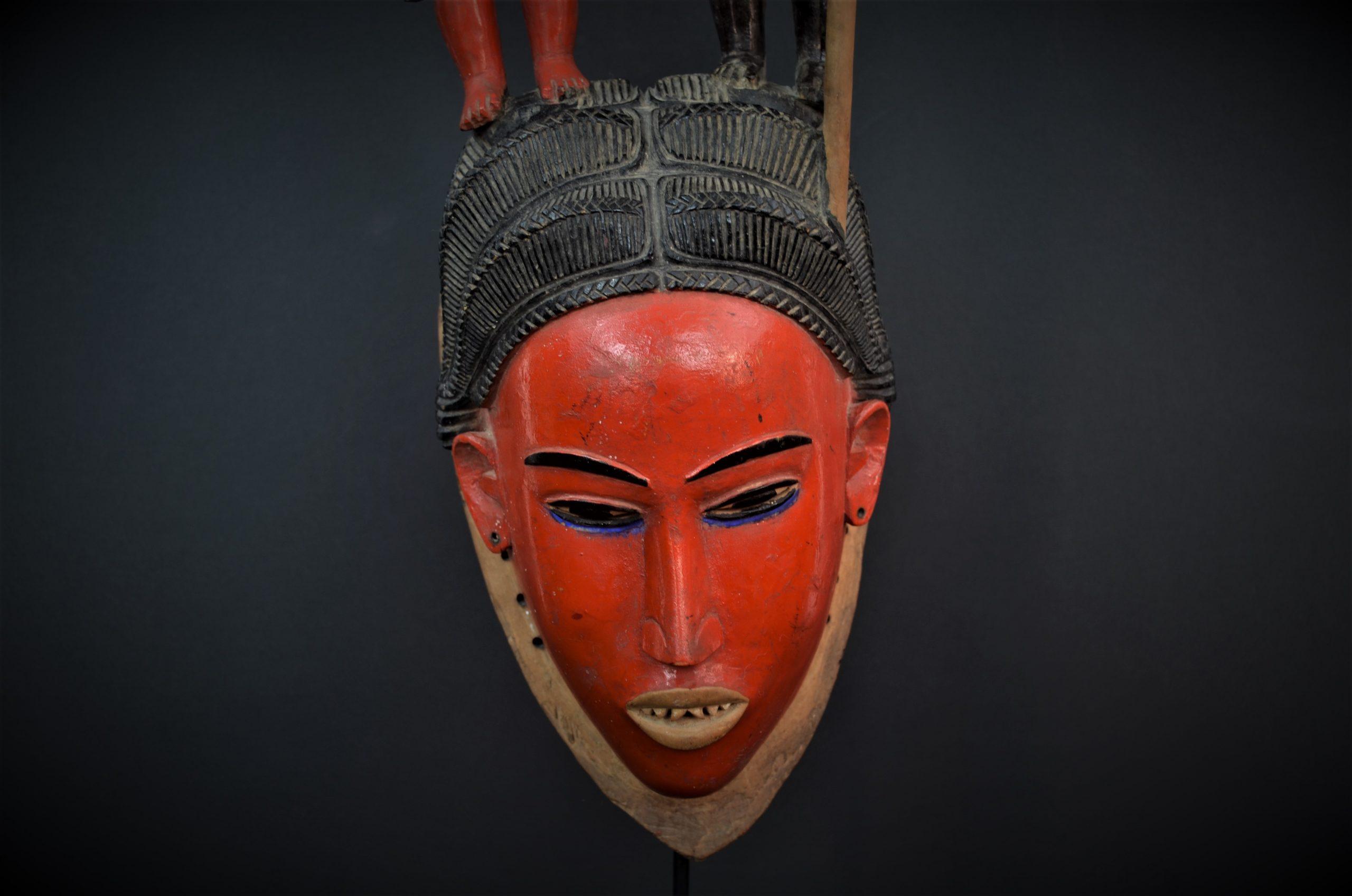Gouro, Maître des Niono, Masque Gou Ripolin Rouge, Côte d'Ivoire 18