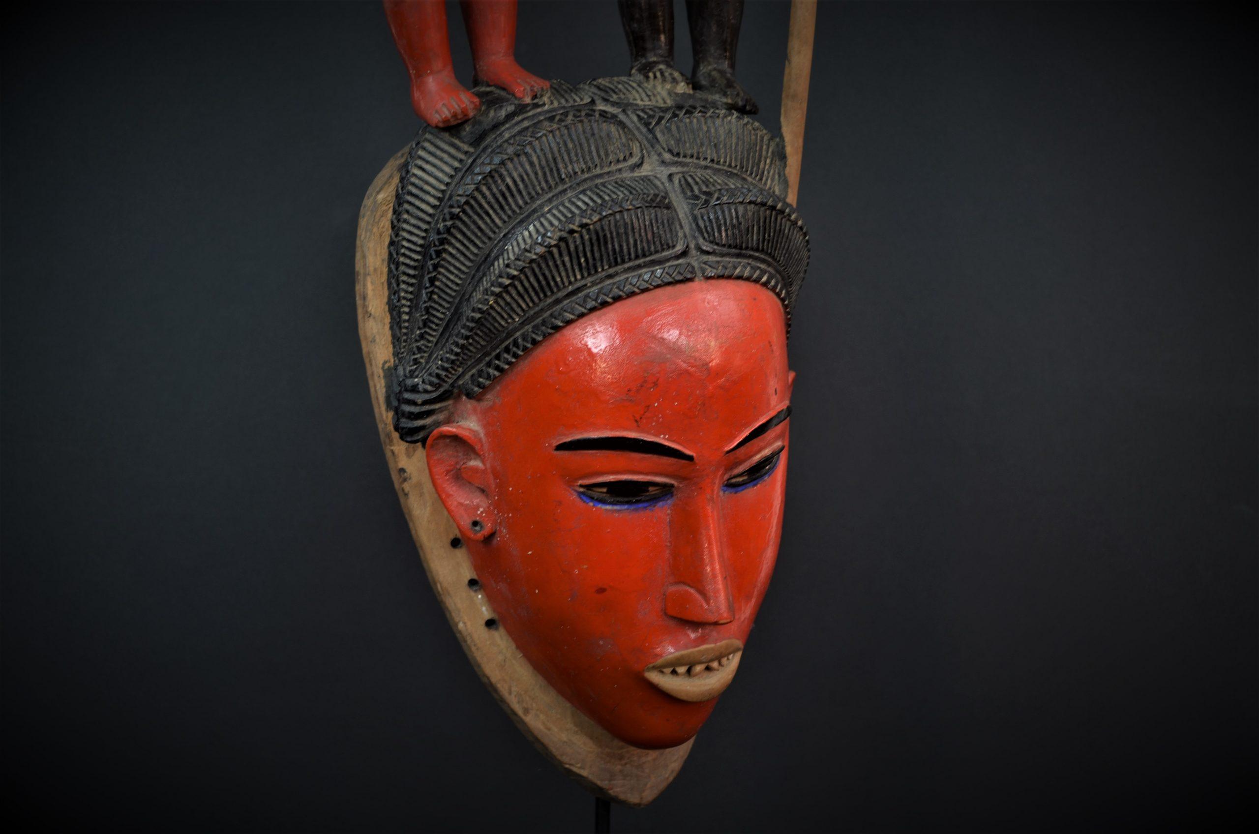 Gouro, Maître des Niono, Masque Gou Ripolin Rouge, Côte d'Ivoire 19