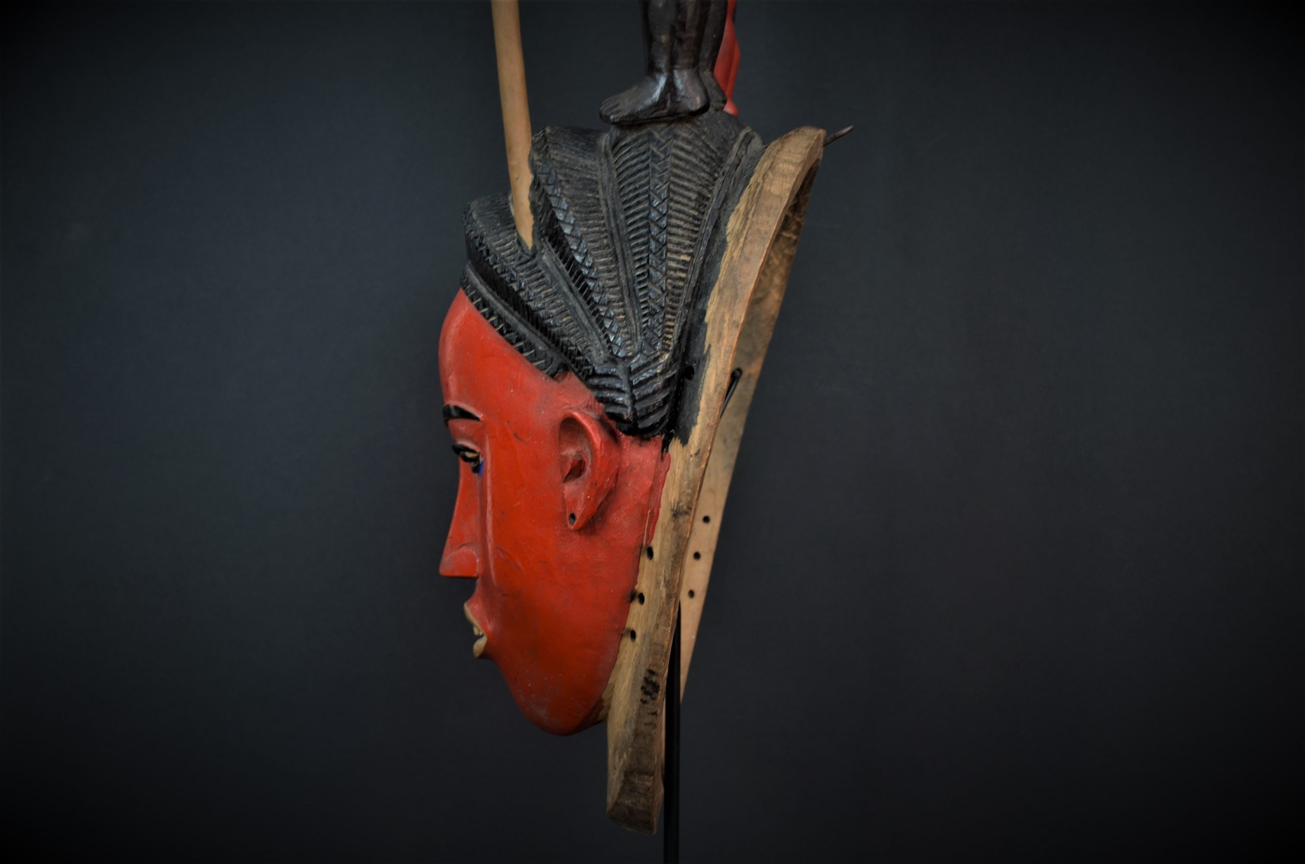 Gouro, Maître des Niono, Masque Gou Ripolin Rouge, Côte d'Ivoire 24