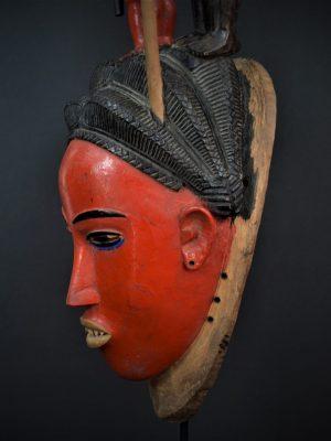 Gouro, Maître des Niono, Masque Gou Ripolin Rouge, Côte d'Ivoire 25