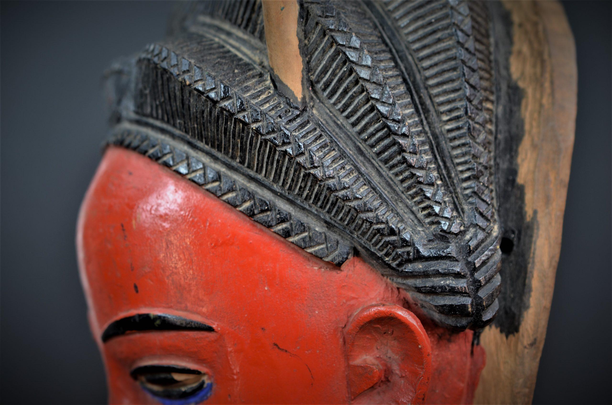 Gouro, Maître des Niono, Masque Gou Ripolin Rouge, Côte d'Ivoire 26