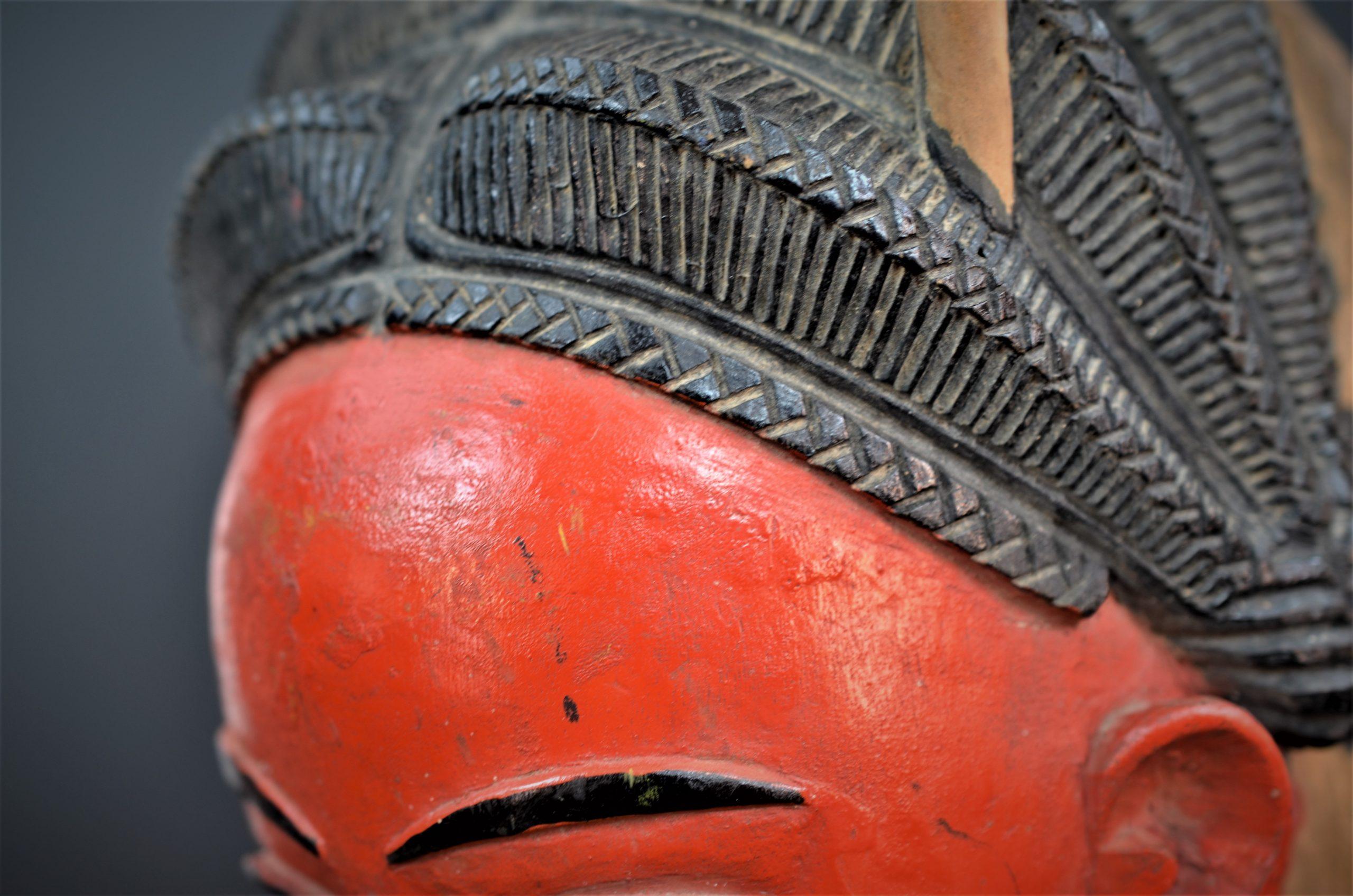 Gouro, Maître des Niono, Masque Gou Ripolin Rouge, Côte d'Ivoire 27