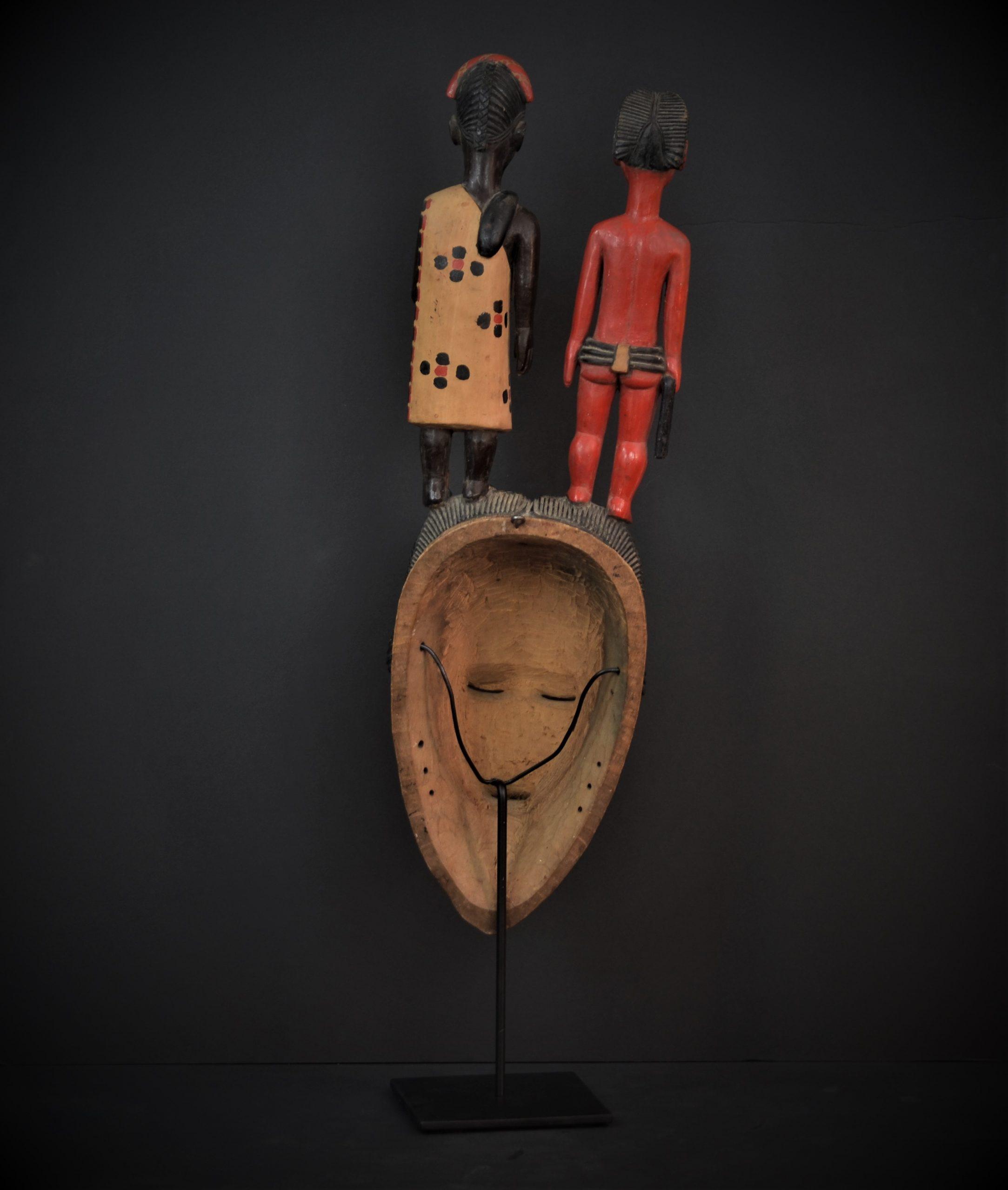 Gouro, Maître des Niono, Masque Gou Ripolin Rouge, Côte d'Ivoire 3