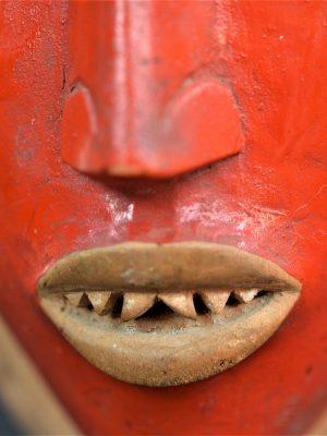 Gouro, Maître des Niono, Masque Gou Ripolin Rouge, Côte d'Ivoire 31