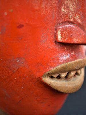 Gouro, Maître des Niono, Masque Gou Ripolin Rouge, Côte d'Ivoire 32
