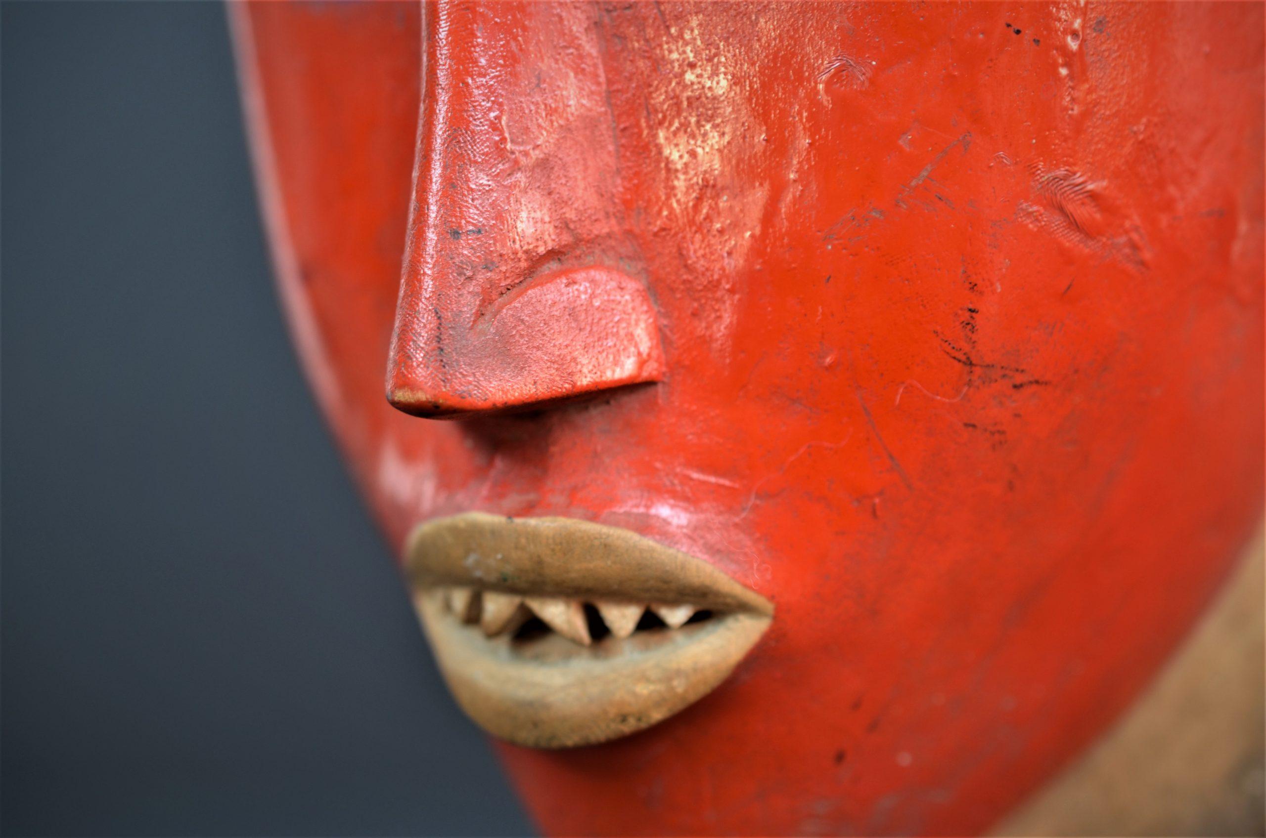 Gouro, Maître des Niono, Masque Gou Ripolin Rouge, Côte d'Ivoire 35