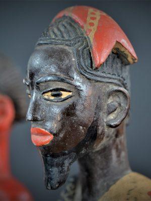 Gouro, Maître des Niono, Masque Gou Ripolin Rouge, Côte d'Ivoire 36