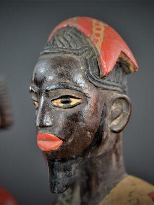 Gouro, Maître des Niono, Masque Gou Ripolin Rouge, Côte d'Ivoire 46