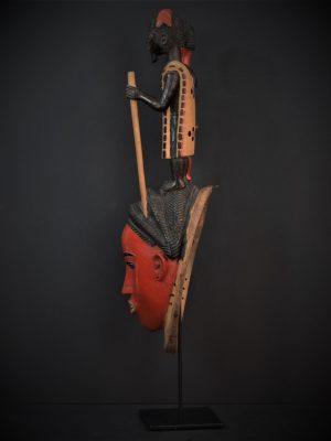 Gouro, Maître des Niono, Masque Gou Ripolin Rouge, Côte d'Ivoire 5