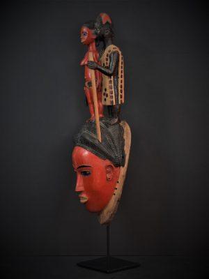 Gouro, Maître des Niono, Masque Gou Ripolin Rouge, Côte d'Ivoire 6