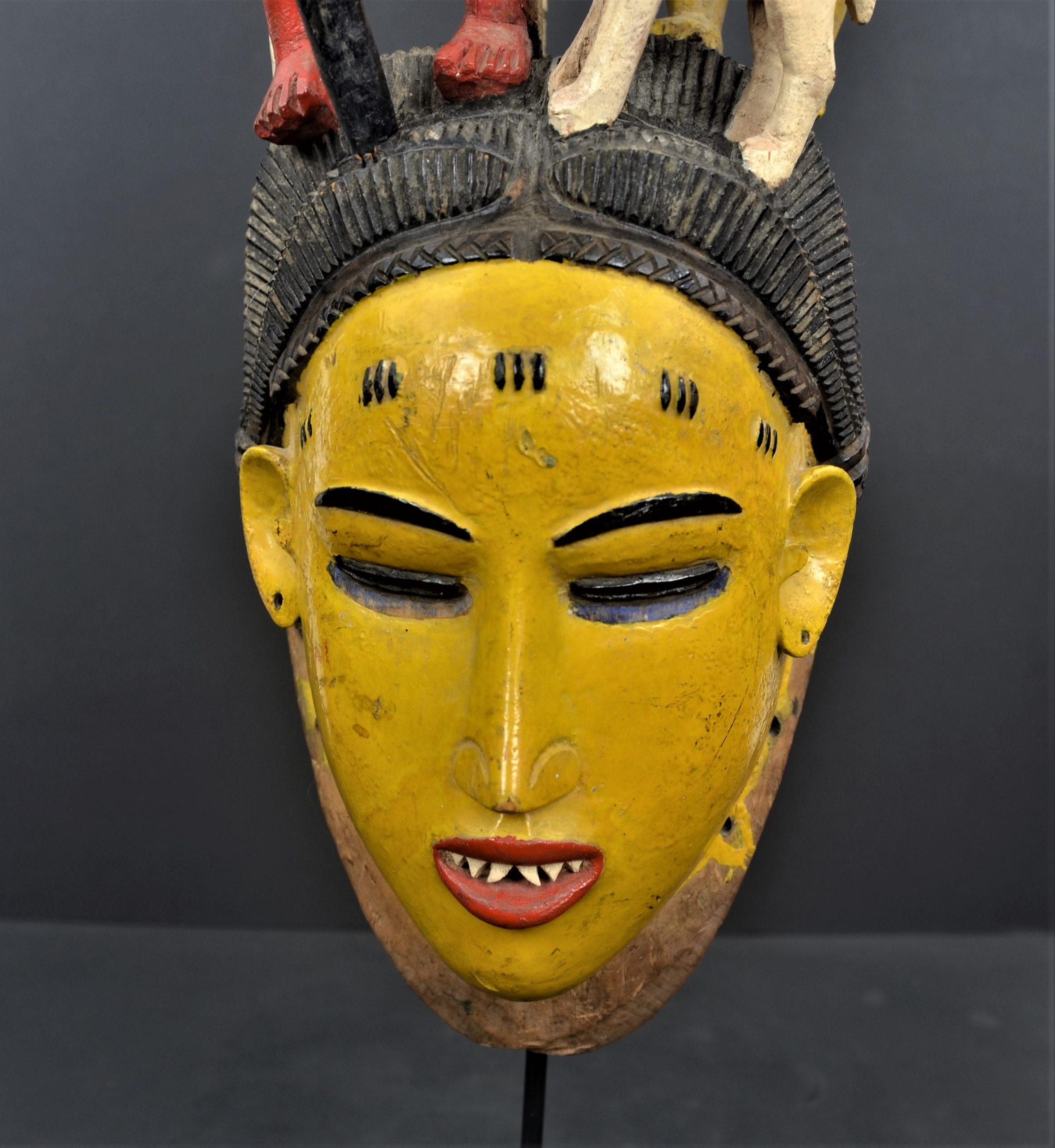 Gouro masque jaune 19