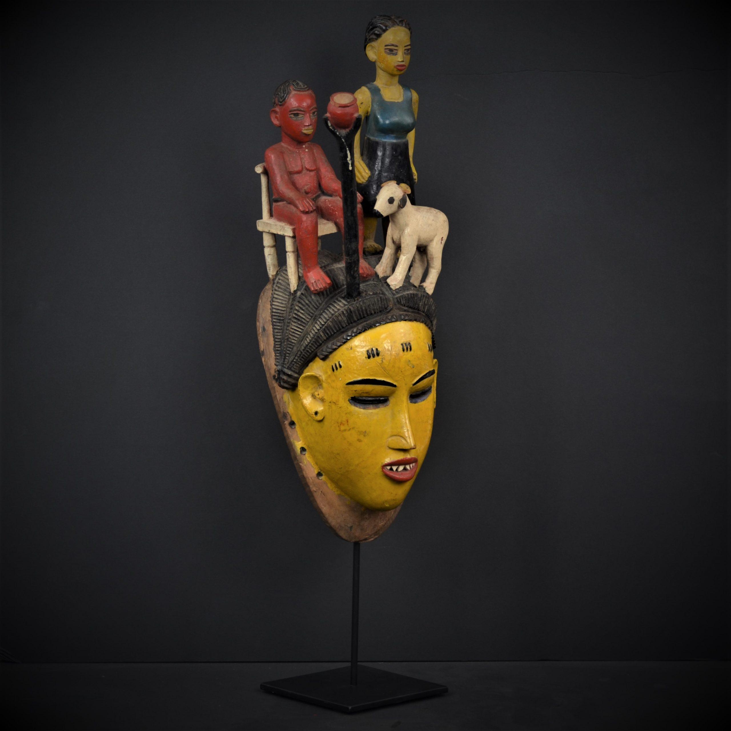 Gouro masque jaune 2
