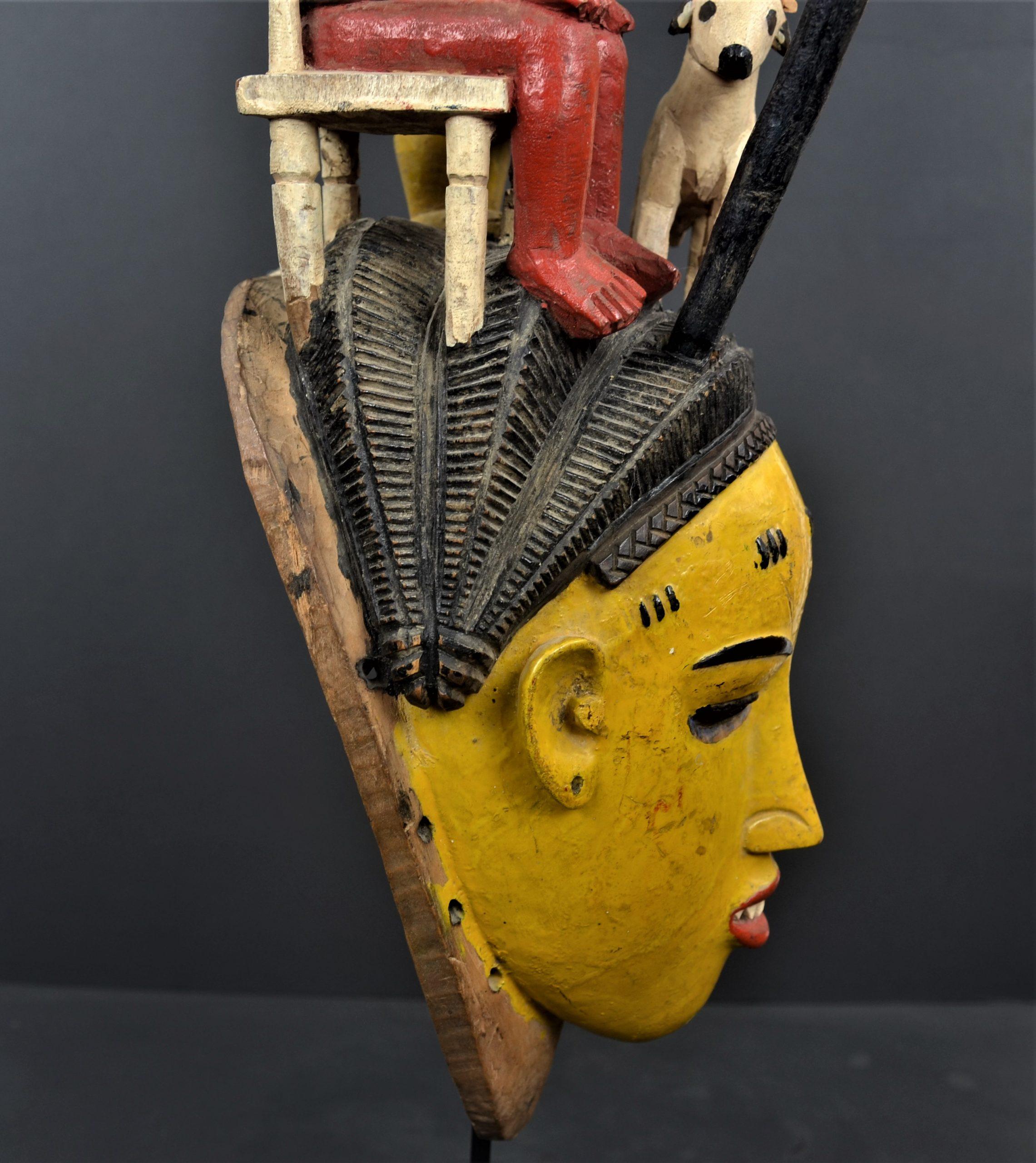 Gouro masque jaune 21