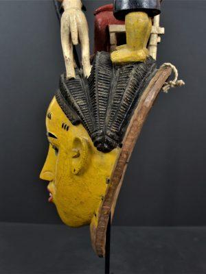 Gouro masque jaune 25