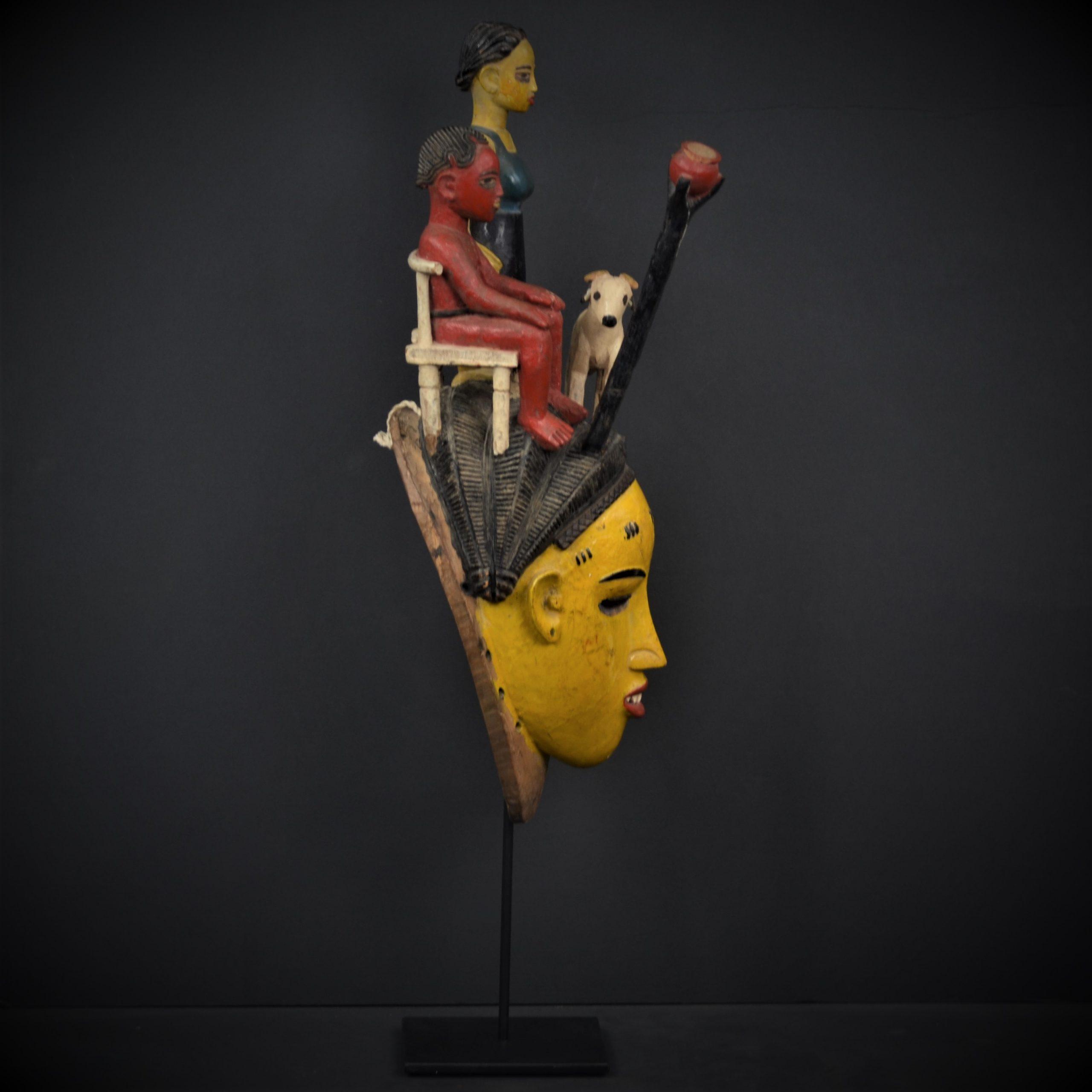 Gouro masque jaune 3