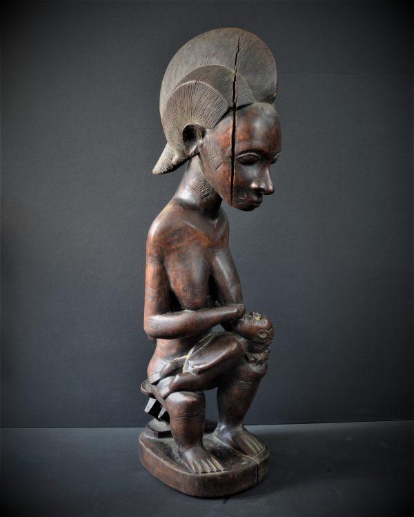 Statue Gouro Maternité Jumeaux, Côte d'Ivoire