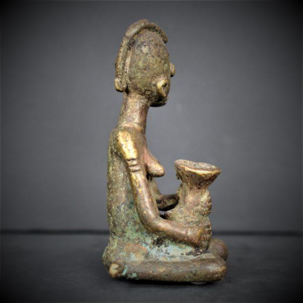 Statuette Bronze Gan, Burkina Faso
