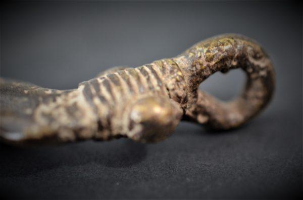 Pendentif Serpent Bronze Gan, Burkina Faso
