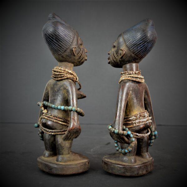 Yoruba Paire de Statuettes, Jumeaux, Ibeji, Nigeria