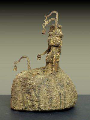 autel dogon en pied profil gauche
