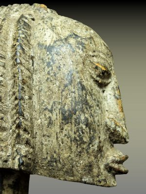 pileuse dogon visage profil gauche
