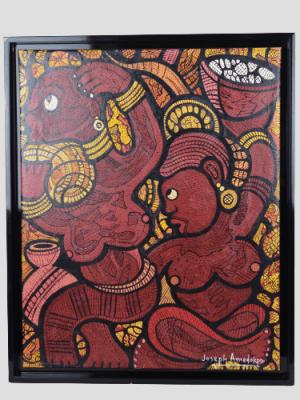 Joseph Amedokpo, peinture huile sur toile (2), Togo