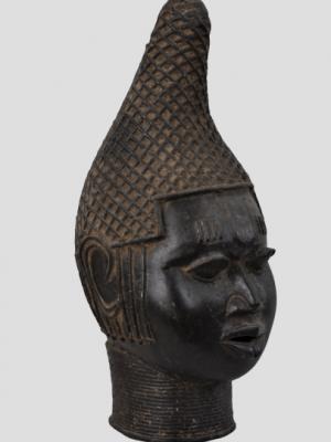 Tête commémorative de reine, Edo, Royaume de Benin, Nigeria