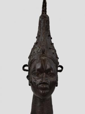 Tête commémorative de reine, Bini/Edo, Royaume de Benin, Nigeria